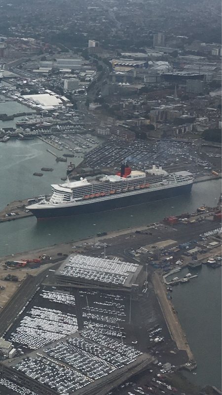QM2 from our flight into Southampton today. 16/9/16