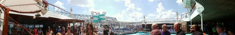 New World Pool on Carnival Triumph