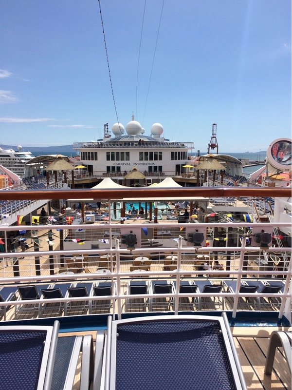 Pretty cool view of the ship - Carnival Inspiration