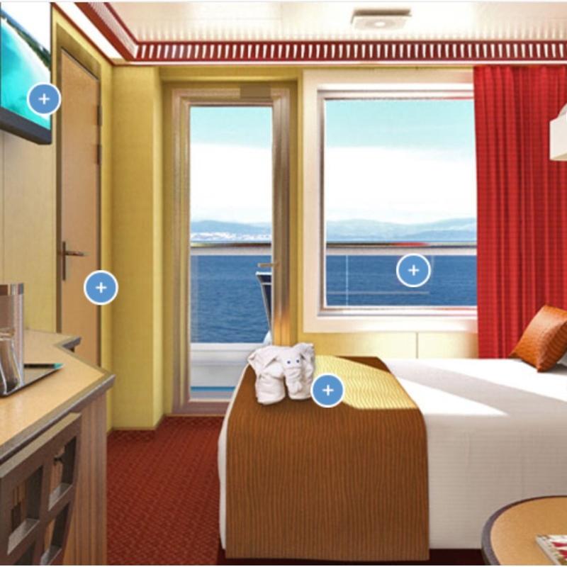 Balcony Cabin 6420 on Carnival Dream, Category 8B