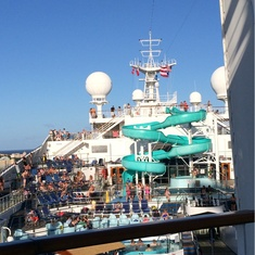 Slide Entrance on Carnival Conquest