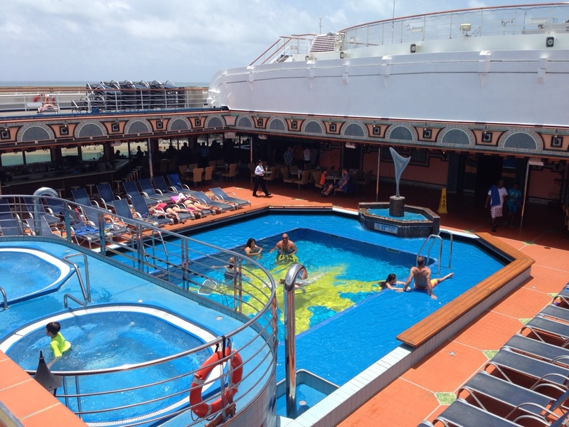 Carnival Victory, Pools, Spa