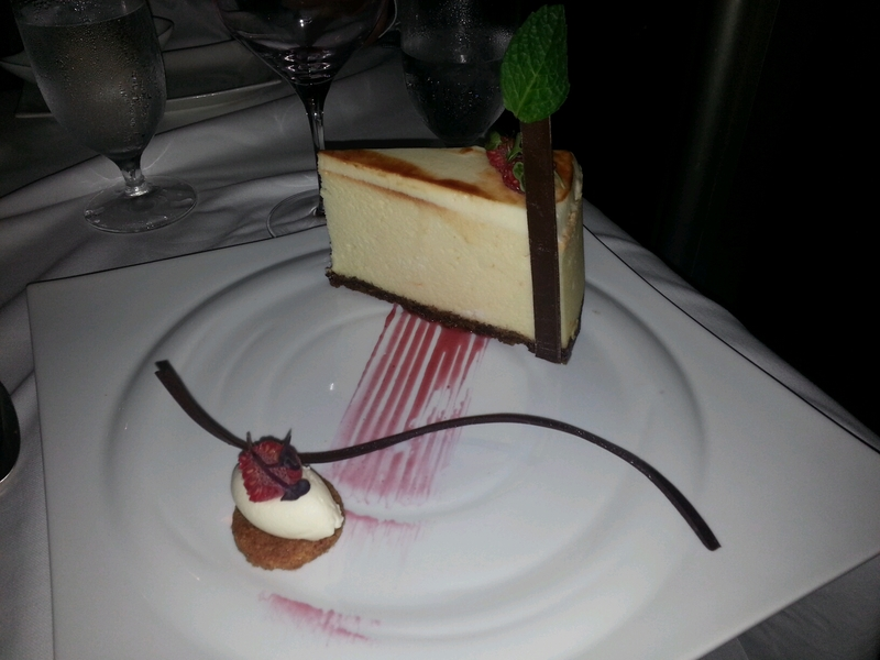 Now thats a slice of cheesecake - Carnival Conquest