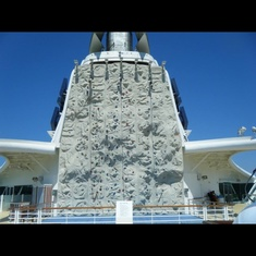Rock Climbing Wall on Jewel of the Seas