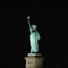 New York, New York - Lady Liberty, viewed from 11006 balcony