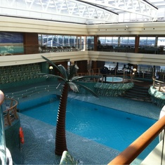 Covered Pool on MSC Splendida