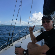 Hang loose, brah.  Pillsbury Sound, USVI