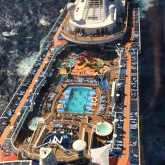 Outdoor Pool on Ovation of the Seas