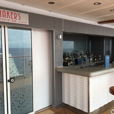 Shaker''s Cocktail Bar on the Waterfront on Norwegian Breakaway