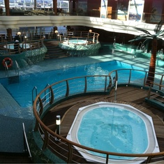 Jacuzzis on MSC Splendida