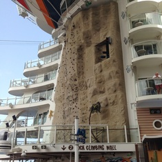 Rock Climbing Wall on Allure of the Seas