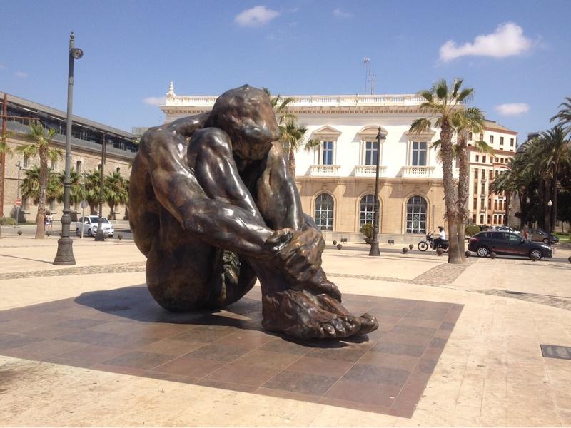 The crouching man Cartagena, Murcia,