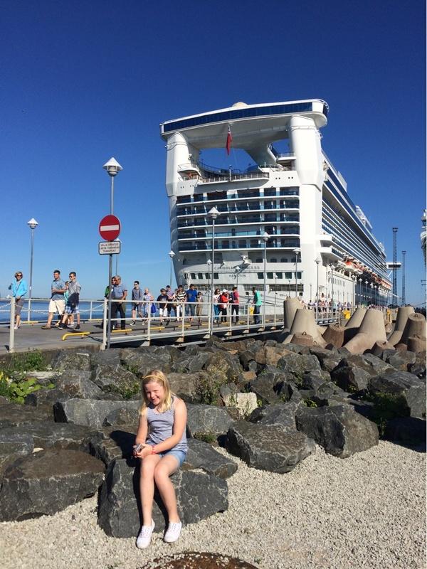 Enjoying the sun in Estonia