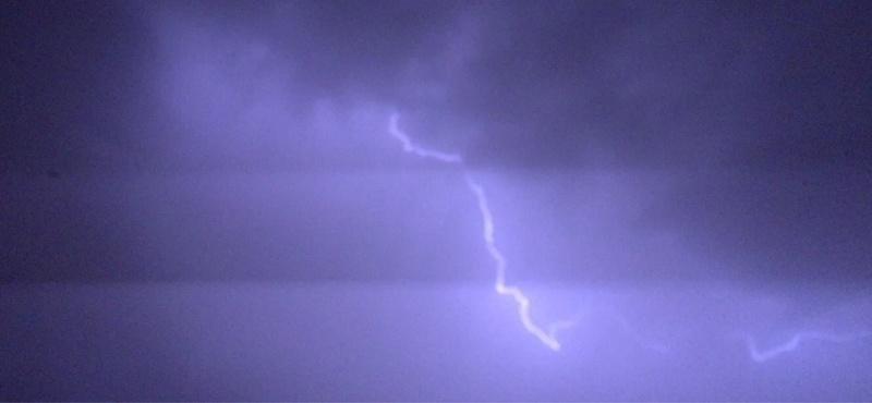 Lightening storm as we left port