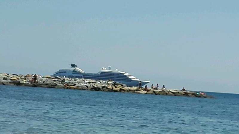 Seabourn Sojourn in Sanremo Italy Mediterraneo Sea