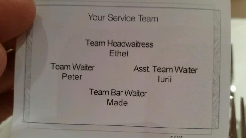 Best wait staff!! - Carnival Liberty