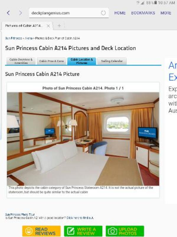 Premium Oceanview Stateroom on Sun Princess