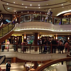 Grand Lobby on Queen Elizabeth