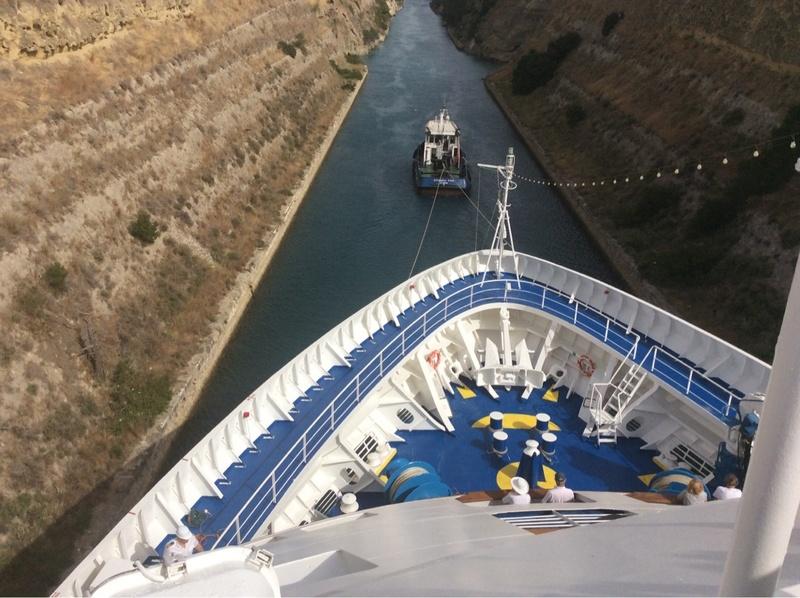 Going thru the Corinth Canal