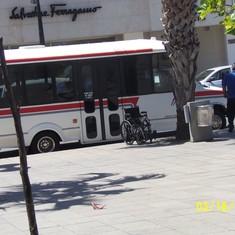 Tour bus in Puerto Rico