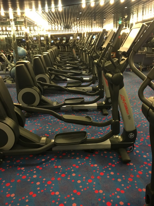 Gym on ship - Carnival Conquest