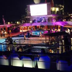 Coney Island Pool on Carnival Liberty