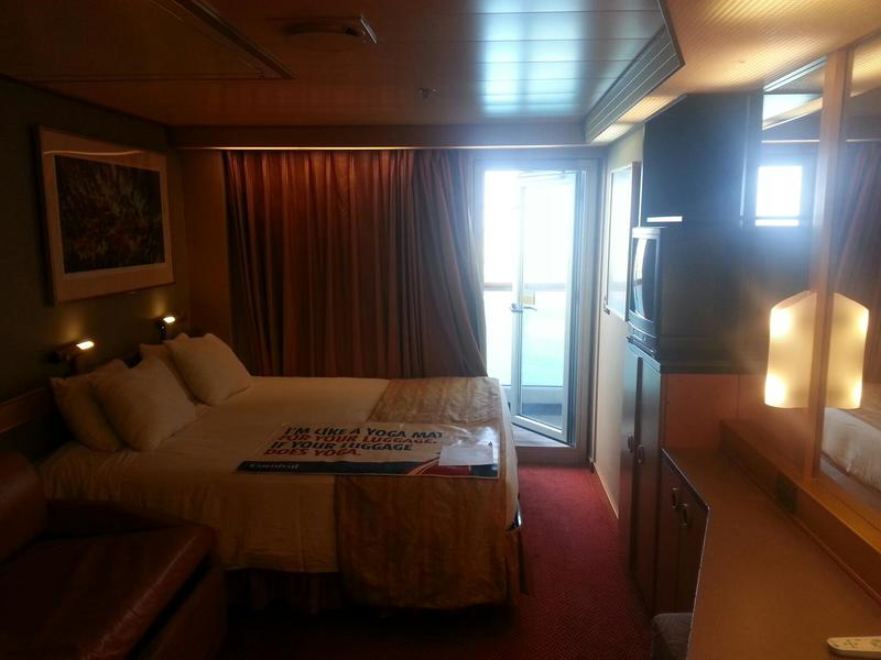 Balcony Cabin 8276 On Carnival Victory, Category 8D