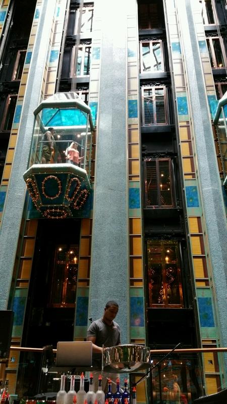 Atrium elevator - Carnival Victory