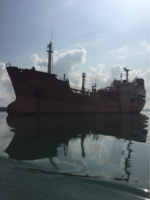 Grounded Drug ship