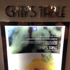 Chef''s Table on Quantum of the Seas