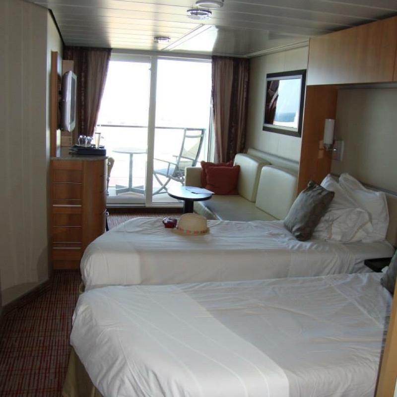Balcony cabin 6265 on celebrity equinox category 2c for Celebrity equinox cabins photos