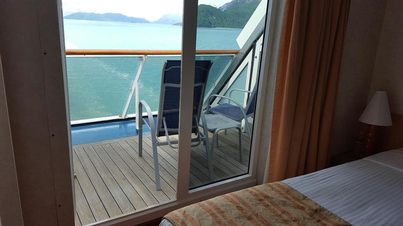 Aft-View Extended Balcony Stateroom on Carnival Legend