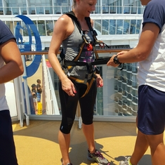 Zipline on Allure of the Seas