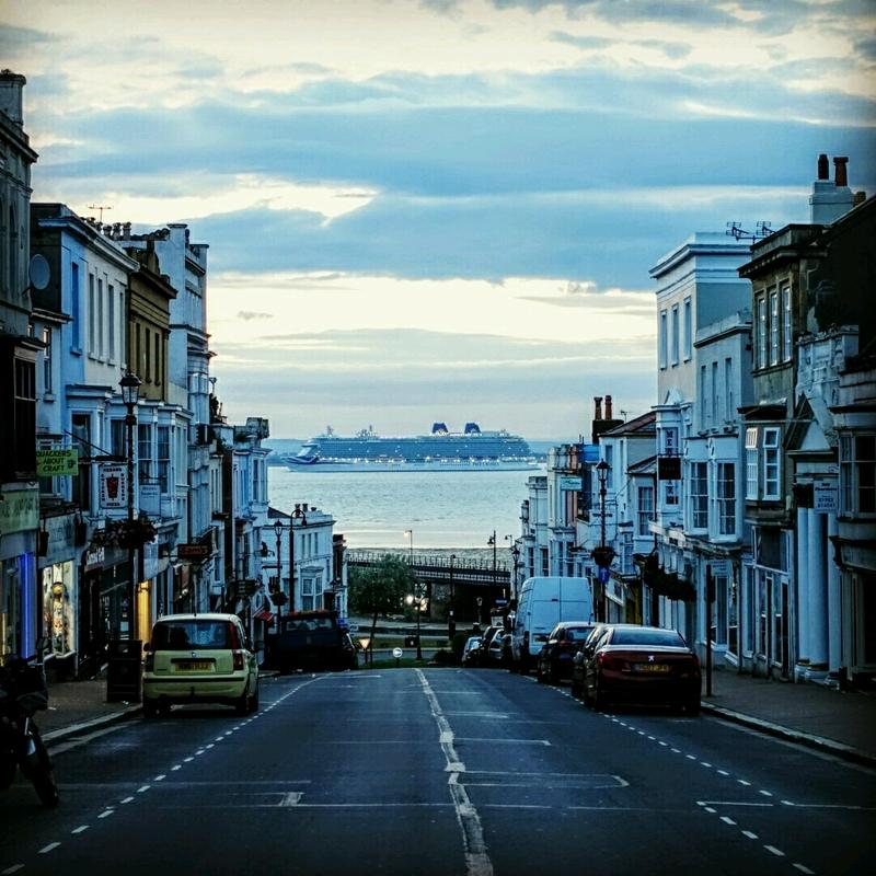 Britannia off Ryde Pier