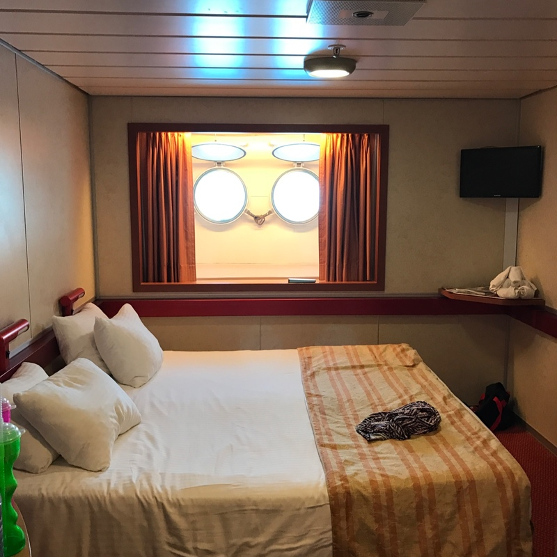 Inside cabin e2 on carnival sensation category pc for Carnival sensation interior rooms
