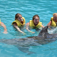 Cozumel, Mexico - Swimming with the dolphins - best excursion but don't worry about the time spans