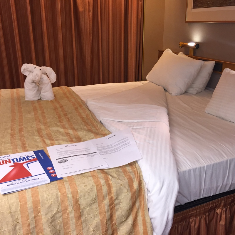 Aft-View Extended Balcony Stateroom on Carnival Victory