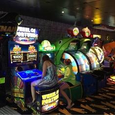 Video Arcade on Carnival Splendor