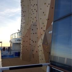 Rock Climbing Wall on Quantum of the Seas