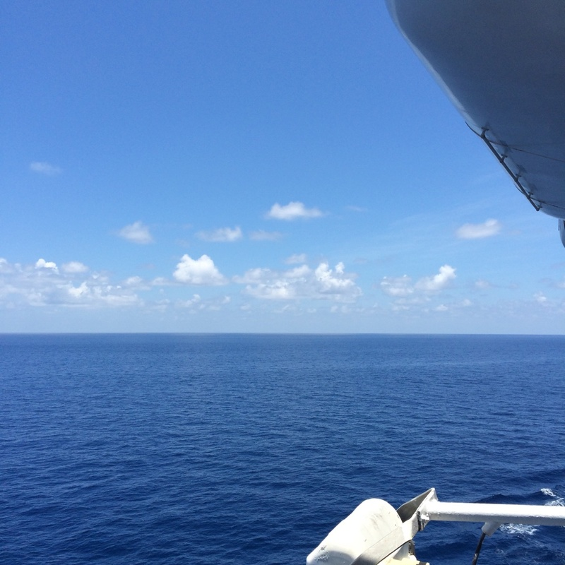 The view from the deck - Carnival Elation