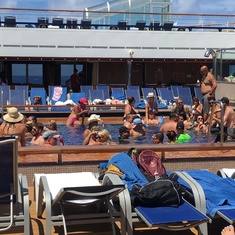 Stress Less Pool on Carnival Freedom