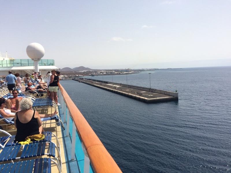Entering Port of Lanzarote on Explorer of the sea