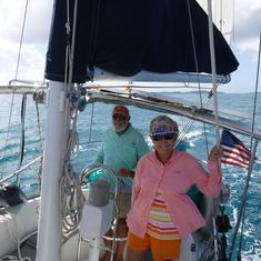 Charlotte Amalie, St. Thomas - Captain Ron and First Mate Carol
