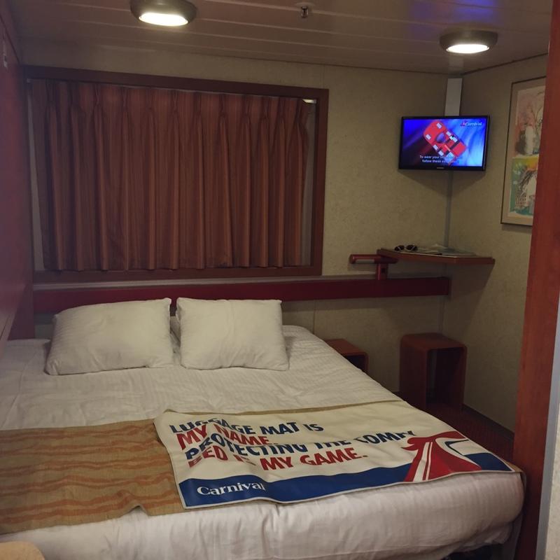 Interior Bunk Bed Stateroom on Carnival Sensation