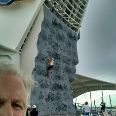 Rock Climbing Wall on Navigator of the Seas