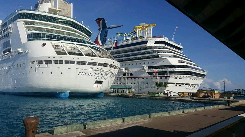 Picture of nassau bahamas bahamas cruise port next to enchantment of the seas - Cruise port nassau bahamas ...