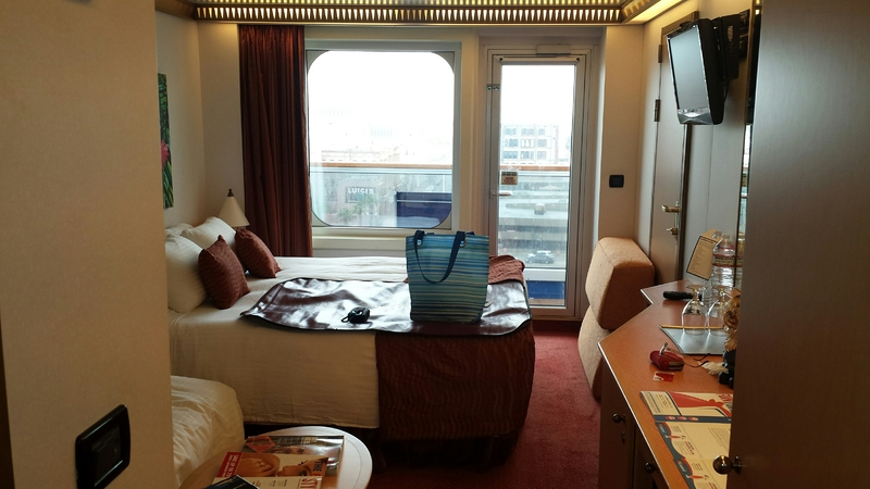 Balcony Cabin 8308 On Carnival Magic, Category 8D