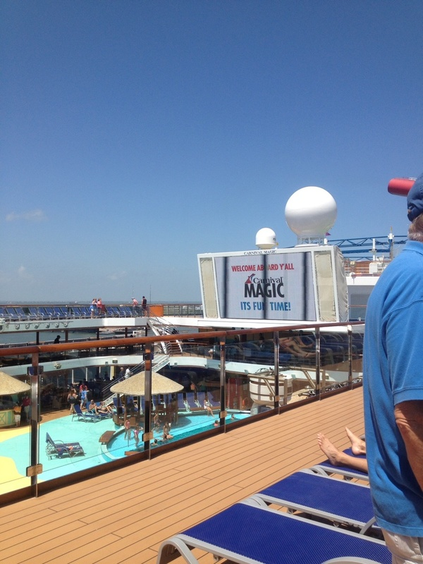 Just getting on the Magic! - Carnival Magic