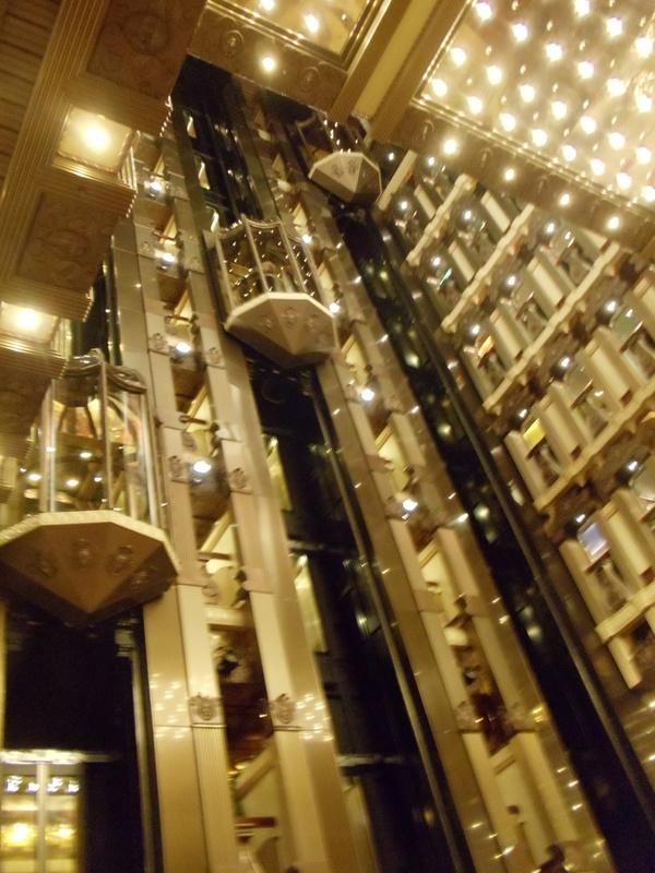 Atrium elevators - Carnival Pride