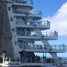 Rock Climbing Wall on Oasis of the Seas